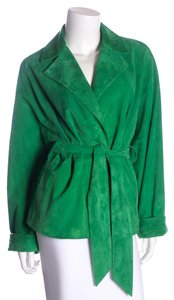 Ralph Lauren Black Label Green Leather Jacket