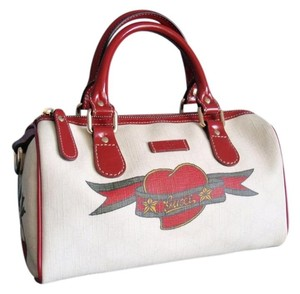 Gucci Jackie Joy Red Speedy Satchel in White Red