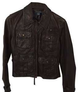 Ralph Lauren Collection Leather Bomber Brown Leather Jacket