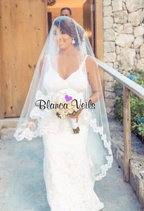 Blanca Veils Beaded Soft Drop Lace Cathedral Veil(9ft)
