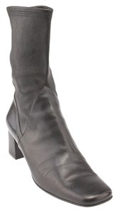 Salvatore Ferragamo Leather Midcalf Black Boots