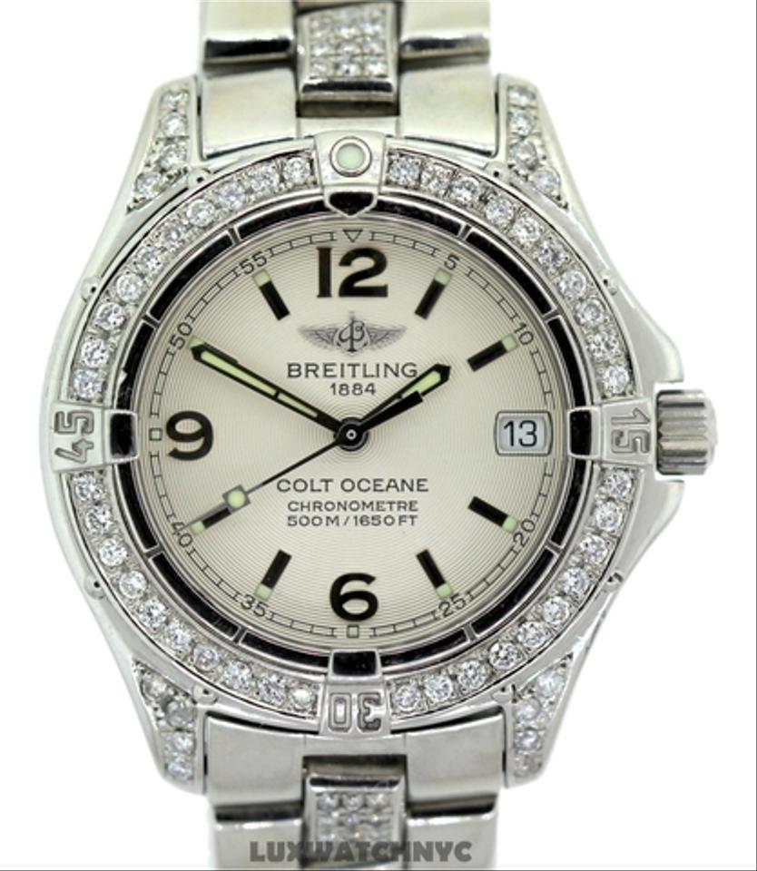 Breitling 4.30CT LADIES BREITLING COLT OCEANE DIAMOND WATCH WITH APPRAISAL  ...