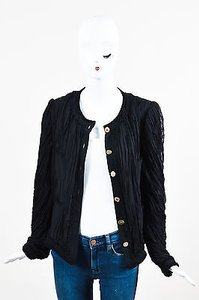 Emanuel Ungaro Silk Black Jacket
