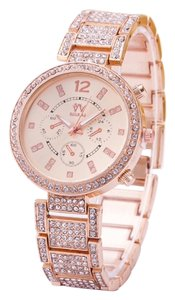 Other New Stainless Steel Rose Gold Crystal Watch