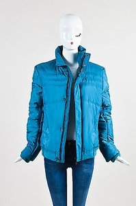 Versace Collection Teal Coat