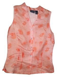 Hillard & Hanson Button Down Shirt Peach, orange