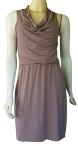 Cynthia Rowley short dress Taupe Jersey Draped Neckline on Tradesy