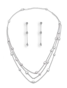 Tiffany & Co. Tiffany & Co. Diamond Necklace And Earring Set Platinum