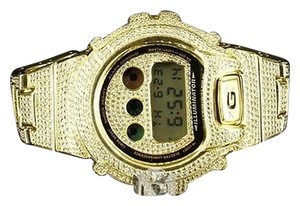 Other Mens G Shock Watch Dw6900 Full Iced Out Gshock Lab Diamond Stainless Steel Gold