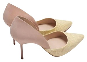 Zara Blush &light yellow Pumps