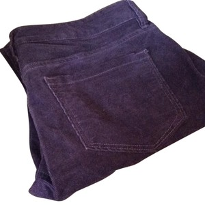Ann Taylor LOFT Straight Pants Eggplant/purple