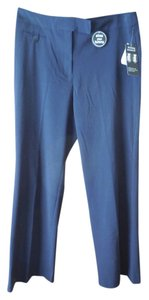 Counterparts New With Tags Slimming Lightweight Slash Pockets Button Close Trouser Pants Navy Blue
