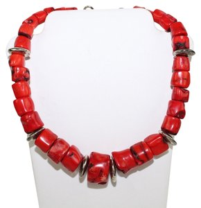 Other Red Sea Coral Beaded Necklace