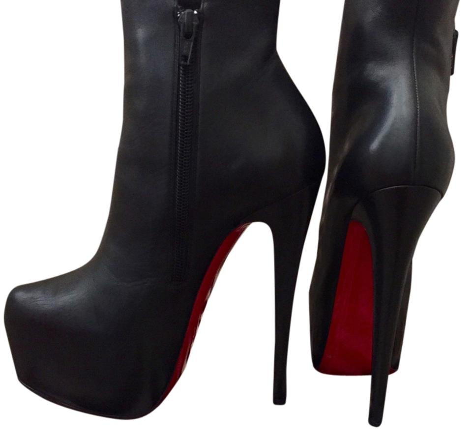 1deea396ed6 Louis Vuitton Black Leather with Red Bottom. Daf 160 Boots/Booties Size US  5.5 Regular (M, B) 64% off retail