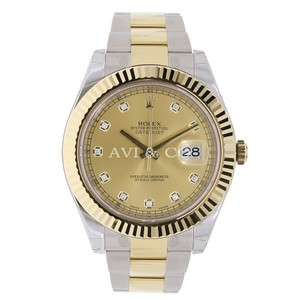 Rolex Rolex Datejust II Steel & Yellow Gold Champagne Diamond Dial 116333