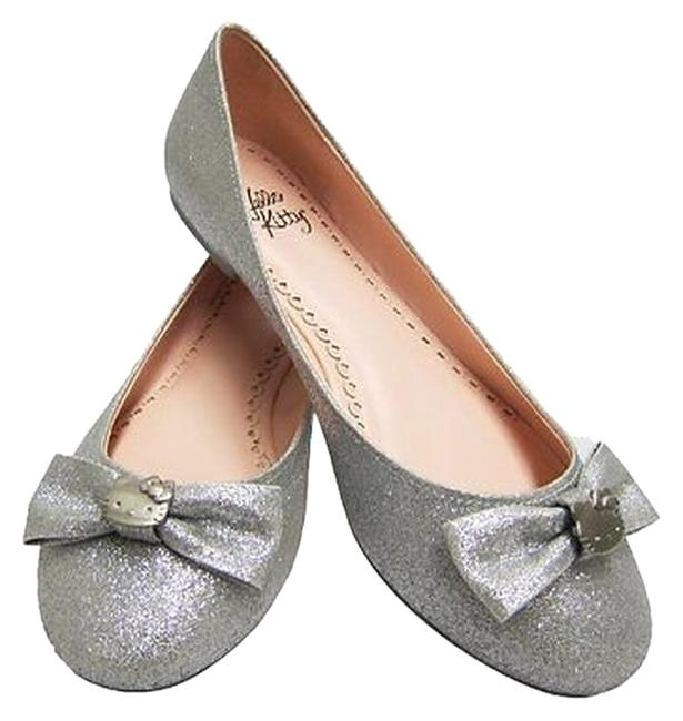 Item - Silver Glitter New Womens Halle Look Very Cute Msrp Flats Size US 7.5 Regular (M, B)