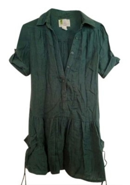Preload https://item5.tradesy.com/images/urban-outfitters-green-army-linen-tunic-size-4-s-147559-0-0.jpg?width=400&height=650