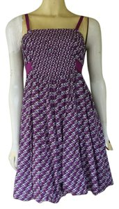 Gianni Bini short dress Purple Cotton Blend Tie Backs Hem on Tradesy