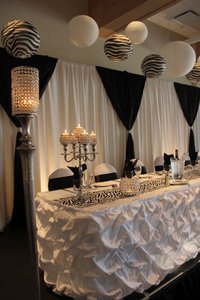 Lot Of 2 17ft Ivory Romantic Gathered Table Skirts Wedding Event Party Tablecloth Bridal Shower Baby