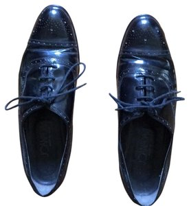 Joan & David Black patent leather Flats