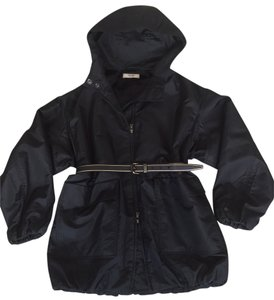 Prada Outdoor Padded Versatile Hoodie Black Jacket
