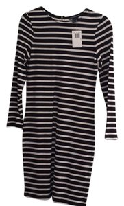French Connection short dress Black and off white stripes on Tradesy