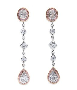 Beaudry Beaudry Couture Collection Diamond Earrings Platinum And 18k Rose Gold