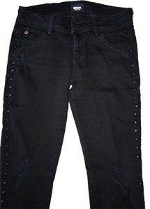 Hudson Jeans Distressed Studded Skinny Jeans-Distressed