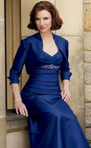 Caterina Collection Shire Blue Polyester Formal Bridesmaid Mob Dress Size 14 L
