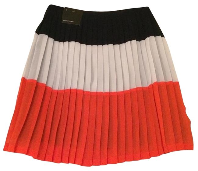 Item - Multicolor Color-blocking Pleated Skirt Size 2 (XS, 26)