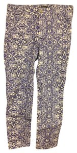 White House | Black Market Skinny Pants Purple and white