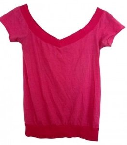 Charlotte Russe Off The Shoulder Hot T Shirt pink
