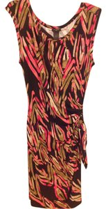 Ann Taylor short dress Brown and pink on Tradesy