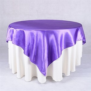 Purple Satin Overlay New Cake Tablecloth Tablecloth Wedding Anniversary Event Decor Party