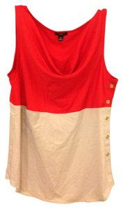 Ann Taylor Top Red and beige
