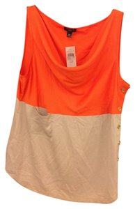 Ann Taylor Top Orange and tan