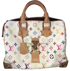 Louis Vuitton Speedy Murakami Satchel in multi color