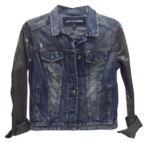Express Denim & Silver Womens Jean Jacket