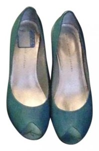 Marc by Marc Jacobs Leather Light Blue Wedges