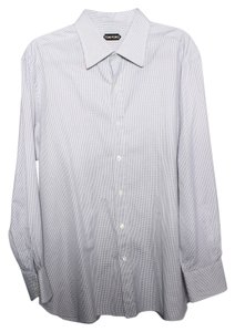 Tom Ford Hoods Tooth Dress Shirt Button Down Shirt Gray