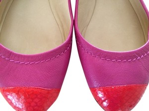 Reed Krakoff Magenta with red toe Flats