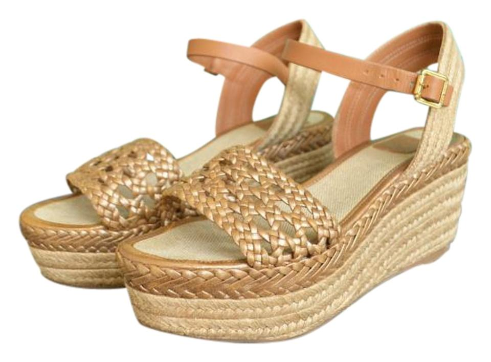 Tory Burch Brown Woven Espadrille Wedges Wedges Espadrille cd9cd0