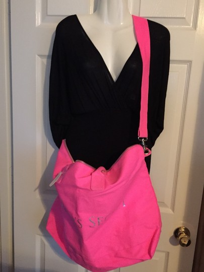 Victoria's Secret Neon Pink Travel Bag