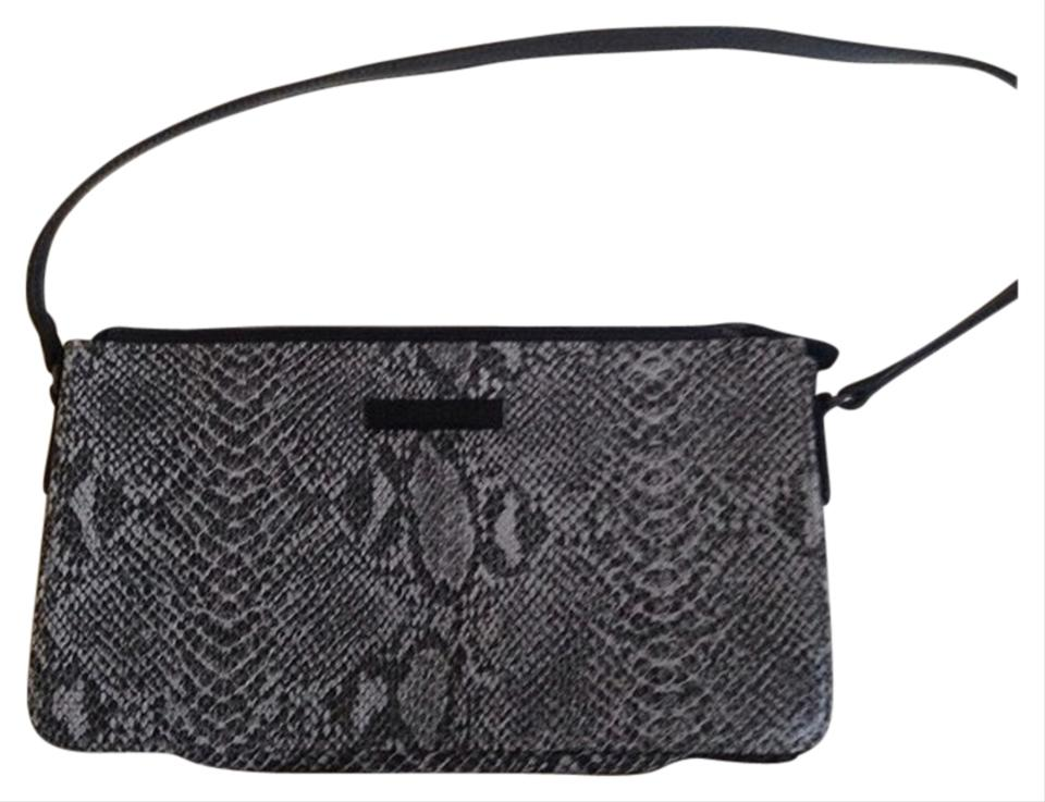 ce098bb22776 Esprit Gray   Black Faux Snakeskin Shoulder Bag - Tradesy