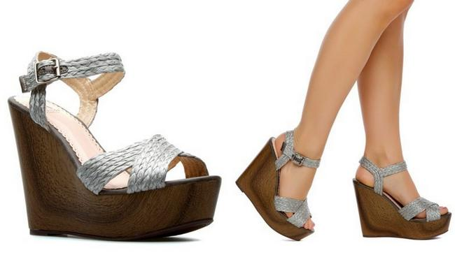 1 Madison Silver Gray Hand Painted Collection Wooden Straps Sandal Wedges Size US 8 Regular (M, B) 1 Madison Silver Gray Hand Painted Collection Wooden Straps Sandal Wedges Size US 8 Regular (M, B) Image 8