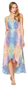 Multi-Colored Maxi Dress by Red Carter Swim Coverup Rainbow Summer Pool Party