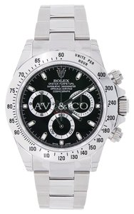 Rolex Rolex Cosmograph Daytona Stainless Steel Watch Black Dial 116520