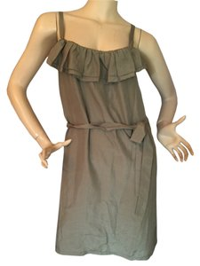 Tommy Bahama short dress Mudstone Spaghetti Strap Ruffle Tie on Tradesy