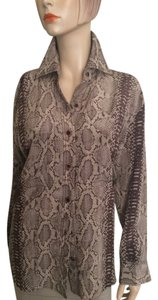 Tracy Reese Button Down Shirt Brown