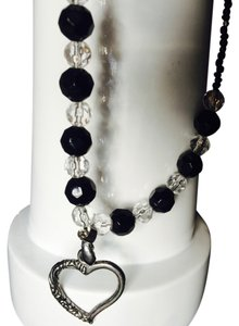 Creative designs by appealingladyl Black And Crytal Beads With Heart Charm